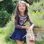 เสื้อแขนยาวเด็กผู้หญิง ลายดอกไม้สไตล์วินเทจ PinkIdeal