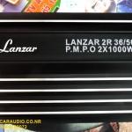 พาวเวอร์แอมป์iรถยนต์ 2 แชลแนล (2CH) LANZAR 2R 36/50