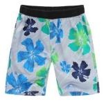 Pre-order กางเกงขาสั้น กางเกงลำลองฤดูร้อน กางเกงทะเล แฟชั่นสไตล์เกาหลี สำหรับหนุ่มไซส์ใหญ่ ดอกชบาฟ้า-เขียว