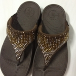 รองเท้า Fitflob Flare  เพชรกระจาย 2 สี สีน้ำตาล No.FF020