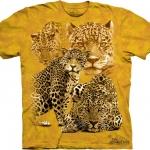 Pre.เสื้อยืดพิมพ์ลาย3D The Mountain T-shirt : Leopard Collage MD