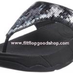 รองเท้า Fitflob Electra Strata ปักเลื่อมเกรดปลาสลับสี สีดำ No.FF015
