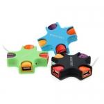 4 Port USB HUB (กากบาท) คละสี