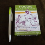 foodie flash cards