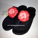รองเท้า Fitflop Florent ดอกไม้ 1 ดอก ดอกสีชมพู/คาดสีดำ No.FF056