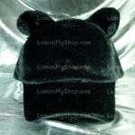 หมวก Bear หูหมี ขนสัตว์นุ่มๆ สีดำ