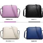 Pre-order กระเป๋าสะพายผู้หญิง หนังแท้ สไตล์ยุโรป-อเมริกา แฟชั่นมาใหม่ปี 2016 มี 4 สี ม่วง ขาว น้ำเงิน ดำ