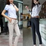 (Pre-Order) กางเกงทำงานมาใหม่ปี 2014 กางเกงทำงาน กางเกงขายาว กางเกงลำลอง ทรงดินสอ