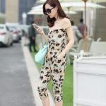 vony2015 ฤดูร้อนบุคลิกภาพของผู้หญิงใหม่แฟชั่นเกาหลีเจ็ดแขนสั้นกางเกงดอกไม้ชิ้น jumpsuit