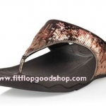 รองเท้า Fitflob Electra Strata ปักเลื่อมเกรดปลาสลับสี สีน้ำตาล No.FF014