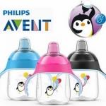 ถ้วยหัดดื่ม Philips AVENT Premium Spout Penguin Sippy Cup 9 oz รุ่นใหม่ จุกเเข็ง 12 เดือน +