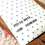 ++ ซองกระดาษลายน่ารัก Polka dots are forever ++ คละลาย 100 ใบ