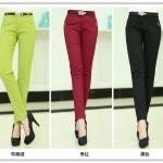 Pre-Order กางทำงานผู้หญิง กางเกงสแล็ค ขาเดฟ มี 3 สี สีดำ สีแดงเข้ม และสีเขียวแอปเปิล