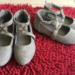 รองเท้าคัทชูเด็กใส่ออกงาน สีเทา