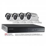 Hikvision ชุดกล้องวงจรปิด HDVCI 720P IR Bullet Camera สำหรับติดตั้ง 4 จุด DS-2CE16C0T-IR, DS-7204HGHI-F1/N