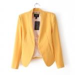 Pre-Order เสื้อสูทผู้หญิง แฟชั่นเสื้อผ้าสเวอร์ชั่นเกาหลี แขนยาว สีเหลือง