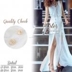 สินค้าพร้อมส่ง 한국에 의해 설계된 2sister made, White Sparkling Splendid Beauty Lady Set เซ็ตเสื้อ+กระโปรงใส่เข้าชุดกัน ตัวเสื้อแขนกุดคอวี ผ้าโพลีพริ้วๆใส่สบายค่ะ มาพร้อมกับกระโปรงยาวผ้าchiffonพริ้วเป็นทรงสวย ด้านหน้าแต่งกระดุมเก๋ๆ แหวกสองข้างเซ็กซี่นิดๆ มีซับในก