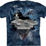 Pre.เสื้อยืดพิมพ์ลาย3D The Mountain T-shirt : Aircraft Carrier