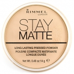 Rimmel London Stay Matte Pressed Powder #Transparent 001