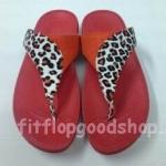 รองเท้า Fitflop New หูหนีบ ลายเสือ สีแดง No.FF418