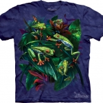 Pre.เสื้อยืดพิมพ์ลาย3D The Mountain T-shirt : Red Eye Collage
