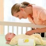 หมอนจัดท่านอน กันกลิ้ง Safety Side-way Sleeping Pillow หมอนข้าง Infant Head-N-Back Sleep Positioner