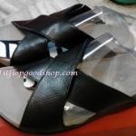 รองเท้า Fitflob XOSA สายคาดกากบาท สีดำ No.FF170