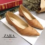 รองเท้าคัชชู Style ZARA ทำจากหนังนิ่ม มาพร้อมพื้นตีแบรนด์ ZARA