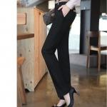 (Pre-Order) กางเกงทำงาน กางเกงลำลอง กางเกงแฟชั่น ขลิบทีี่ขอบเอวและกระเป๋า