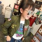 เสื้อแจ็คเก็ตเด็กสีเขียวทหารสุดฮิต แฟชั่นเด็กยอดฮิต