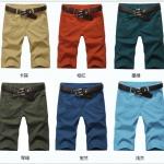 (Pre-Order) กางเกงลำลอง กางเกงขาสั้น ทรงตรง แฟชั่นฤดูร้อนสำหรับผู้ชาย