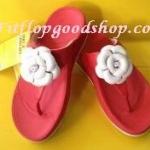 รองเท้า Fitflop Florent ดอกไม้ 1 ดอก ดอกสีขาว/พื้นสีแดง No.FF290