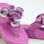 รองเท้า Fitflob Frou  Princess Limited Edition Grape/silver สีม่วงเงิน No.FF270