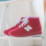 รองเท้าผ้าใบหุ้มข้อตัว N มี 2 สี สีดำ สีแดง