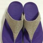 รองเท้า Fitflob Astrid Sandal หูหนีบเกล็ดเพชร สีม่วง No.FF147