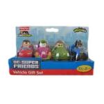 z Fisher Price Little People DC Super Friends Wheelies 4 Vehicle Gift Set