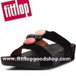 รองเท้า Fitflob Arena Slide Black สีดำ (สวมเพชร 4 เม็ด) No.FF007