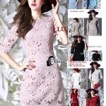 พร้อมส่ง ~ Cliona made'High Light Luxurious Lace Dress