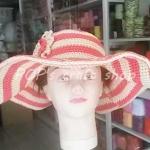 หมวกปีกกว้าง หมวกโครเชต์ เชือกร่ม