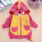 (พร้อมส่ง Size 130 ) เสื้อกันหนาวก็อตซิล่า มีหาง สีชมพู ผ้าอย่างดีจ้าา