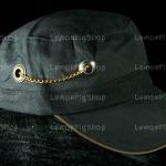 หมวก Cap สีดำ LEVI'S โซ่ห้อย หมุดกระดุม เท่ห์มากๆ