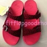 รองเท้า Fitflop New สวม เข็มขัด ลายเสือ สีแดง No.FF437