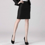 (Pre-Order) กระโปรงทำงาน ทรงตรง สีดำ ผ้าโพลีเอสเตอร์ เวอร์ชั่นเกาหลีแท้