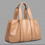 (Pre-order) กระเป๋าสะพายหนังแท้แบบเรียบหรู แฟชั่นกระเป๋าถือ กระเป๋าสะพายสไตล์ยุโรป อเมริกา สีน้ำตาลอ่อน