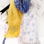 ผ้าพันคอแฟชั่น : 2014 ฤดูหนาวแบรนด์ Xiaoqing ผ้าพันคอ สีขาวสลับสีเหลือง มีพู่ห้อย สวยหวานน่ารักมากๆค่ะ