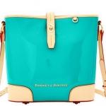 Pre-Order กระเป๋าหนังแก้วสีฟ้าเข้ม Dooney & Bourke Claremont' Crossbody Bucket Bag กระเป๋าถือใบเล็ก กระเป๋าแฟชั่นผู้หญิงทำงาน สำเนา