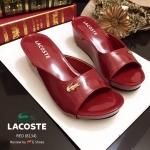 รองเท้าส้นเตารีด STYLE LACOSTE ทำจากหนังแก้วนิ่ม ประดับอะไหล่ LACOSTE