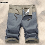 Pre-order กางเกงขาสั้น กางเกงลำลองฤดูร้อน กางเกงทะเล แบบทูโทน แฟชั่นสไตล์เกาหลี สีสาหร่ายทะเล