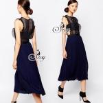 &#x1F389Sevy Self-Portrait Sleeveless TUTU Pleat Chiffon Maxi Dress Type: Maxi Dress Fabric: Chiffon+Lace Spandex Detail: เดรสยาวงานแบรนด์หรูยอดฮิตทรงตรงแขนกุ๊ด ซีทรูช่วงบนมีผ้าซับเป็นเกาะอก ว้าวเอวแอบเซ็กซี่เล็กๆ เนื้อผ้ายืดเล็กน้อย ช่วงกระโปรงเล่นอัดพลี