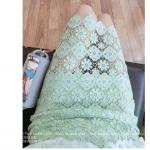 Pre-Order กระโปรงผ้าลูกไม้ สีเขียวอ่อน ความยาวพอดีเข่า เวอร์ชั่นเกาหลี
